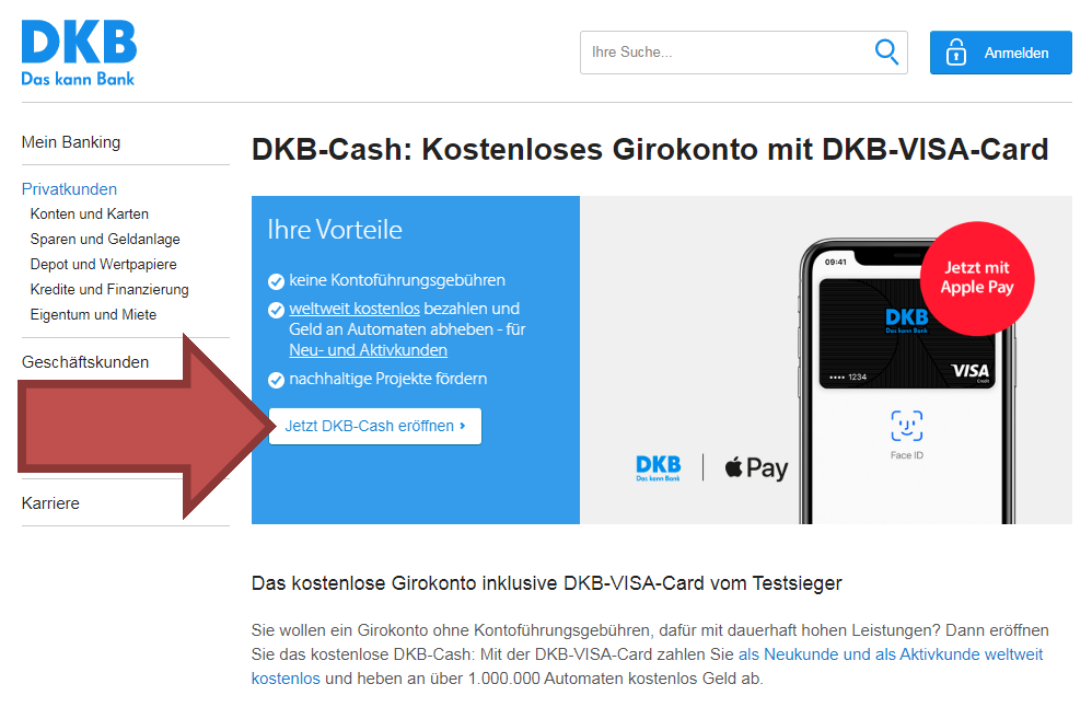 Kontoantrag DKB Zweitkonto