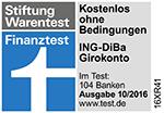 ING-DiBa Auszeichnung Stiftung Warentest